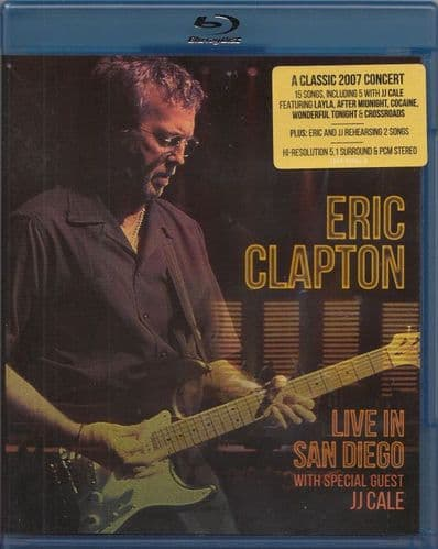 Eric Clapton<br>Live In San Diego (With Special Guest J.J. Cale)<br>Blue-ray, Multichannel, PCM